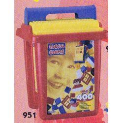 MEGA BLOKS 951 Xếp hình kiểu Lego 400pcs Primary Colors Bucket 400 Pieces Of Three Primary Color Buckets 400 Cái Ba Thùng Màu Cơ Bản 400 khối