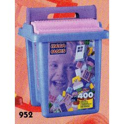 MEGA BLOKS 952 Xếp hình kiểu Lego 400 Pcs Pastel Colors Bucket 400 Pieces Of Color Bucket 400 Màu Xô 400 khối