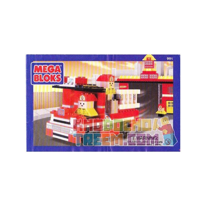 MEGA BLOKS 991 Xếp hình kiểu Lego CITY Fire Station Fire Department Sở Cứu Hỏa 250 khối