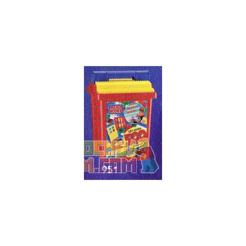 MEGA BLOKS 951-2 Xếp hình kiểu Lego 500 Pcs Primary Colors Bucket 500 Pieogenic Bucket 500 Ba Thùng Màu Cơ Bản 500 khối