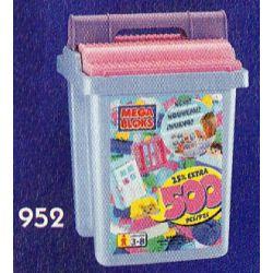 MEGA BLOKS 952-2 Xếp hình kiểu Lego 500 Pcs Pastel Colors Bucket 500 Pieces Of Color Bucket 500 Xô Màu 500 khối
