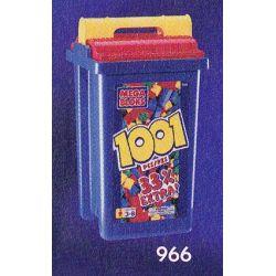 MEGA BLOKS 966 Xếp hình kiểu Lego 1001 Pcs Primary Colors Bucket 1001 Three Primary Color Bucket 1001 Ba Thùng Màu Cơ Bản 1001 khối
