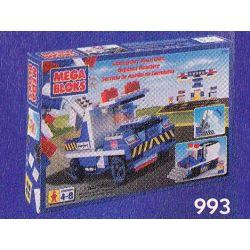 MEGA BLOKS 993 Xếp hình kiểu Lego CITY Emergency Road Unit Emergency Road Car Xe đường Khẩn Cấp 250 khối