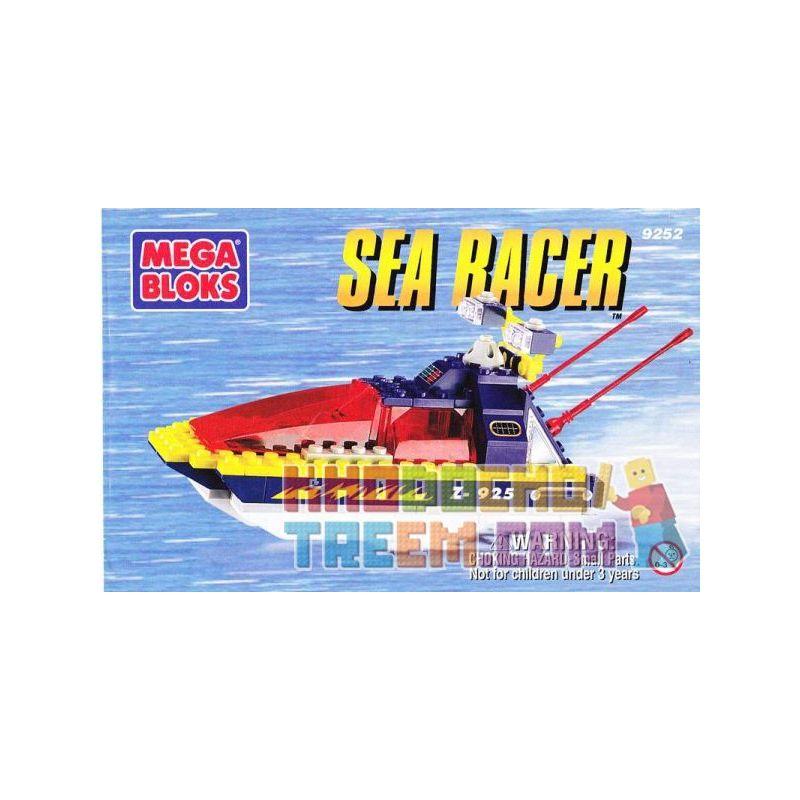 MEGA BLOKS 9252 Xếp hình kiểu Lego CITY Sea Racer Marine Boat Chèo Thuyền Trên Biển 70 khối