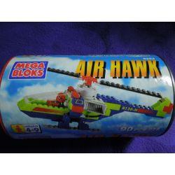 MEGA BLOKS 9253 Xếp hình kiểu Lego CITY Air Hawk Skywl Helicopter Trực Thăng Skyhawk 90 khối