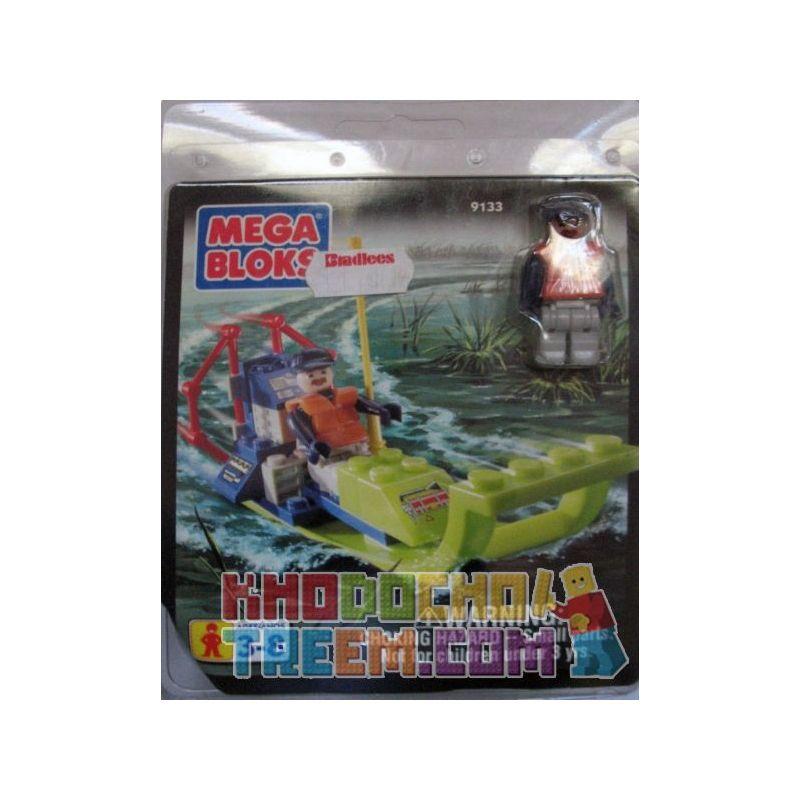 MEGA BLOKS 9133 Xếp hình kiểu Lego CITY Swamp Boat Marsh Thuyền đầm Lầy 23 khối