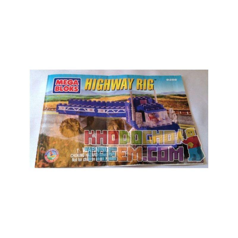 MEGA BLOKS 9256 Xếp hình kiểu Lego CITY Highway Rig Highway Hinged Truck Xe Tải Nối đường Cao Tốc
