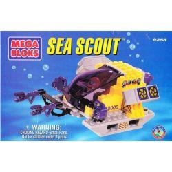 MEGA BLOKS 9258 Xếp hình kiểu Lego CITY Sea Scout Ocean Exploration Submarine Tàu Ngầm Thám Hiểm đại Dương 80 khối