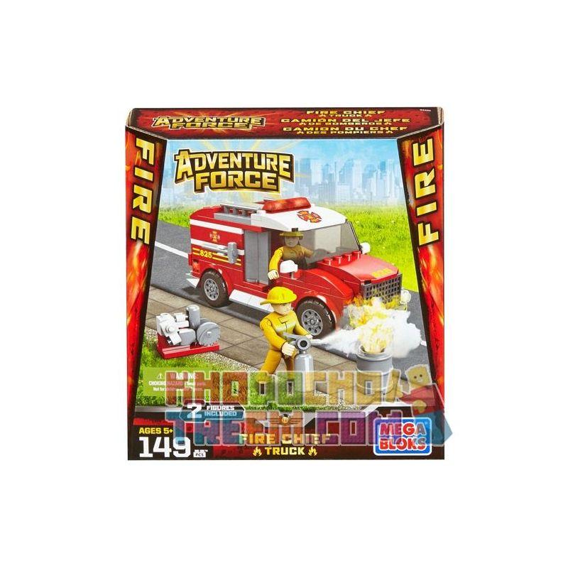 MEGA BLOKS 94405 Xếp hình kiểu Lego CITY Fire Chief Truck Fire Brigade Xe Của đội Trưởng Cứu Hỏa 149 khối