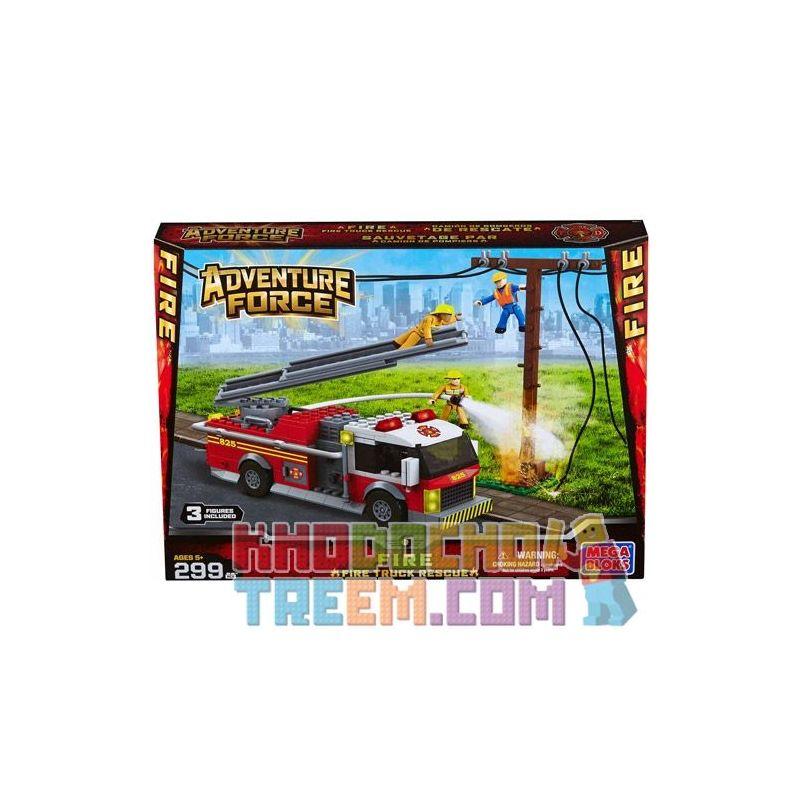 MEGA BLOKS 94411 Xếp hình kiểu Lego CITY Fire Truck Rescue Cứu Hộ Xe Cứu Hỏa 299 khối