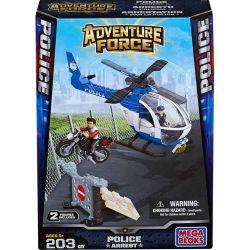 MEGA BLOKS 94416 Xếp hình kiểu Lego CITY Police Chopper Police Helicopter Trực Thăng Cảnh Sát 203 khối