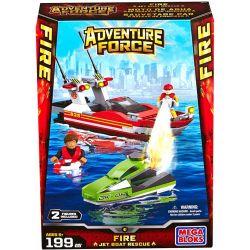 MEGA BLOKS 94419 Xếp hình kiểu Lego CITY Fire Jet Boat Fireboat Tàu Cứu Hỏa 199 khối