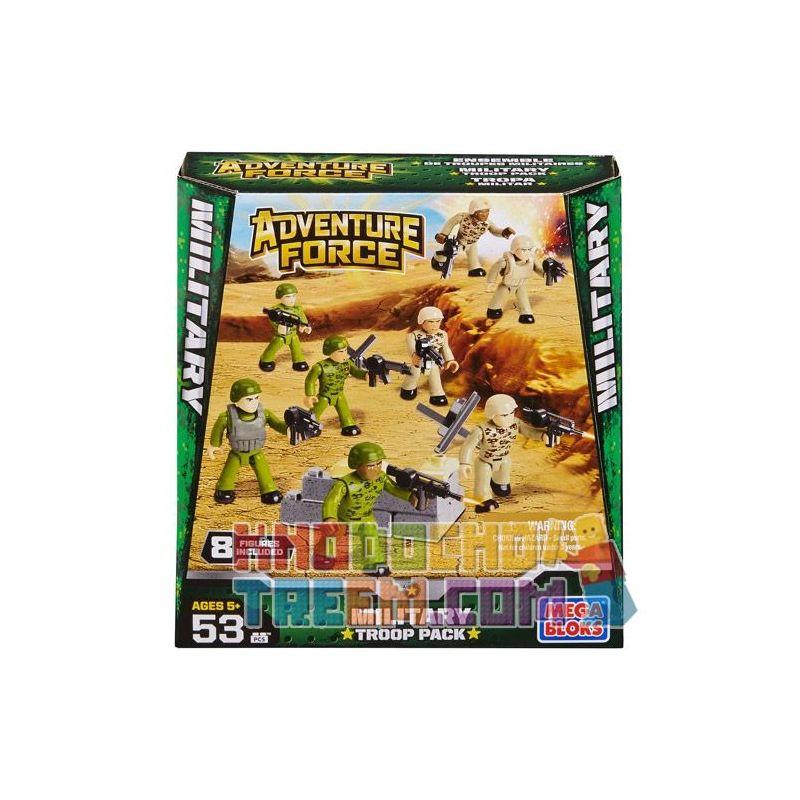 MEGA BLOKS 94423 Xếp hình kiểu Lego MILITARY ARMY Military Troop Pack Military Soldier Bag Túi Quân Nhân 53 khối