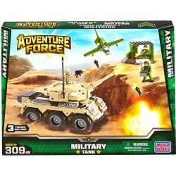 MEGA BLOKS 94424 Xếp hình kiểu Lego MILITARY ARMY Military Tank Xe Tăng Quân Sự 309 khối
