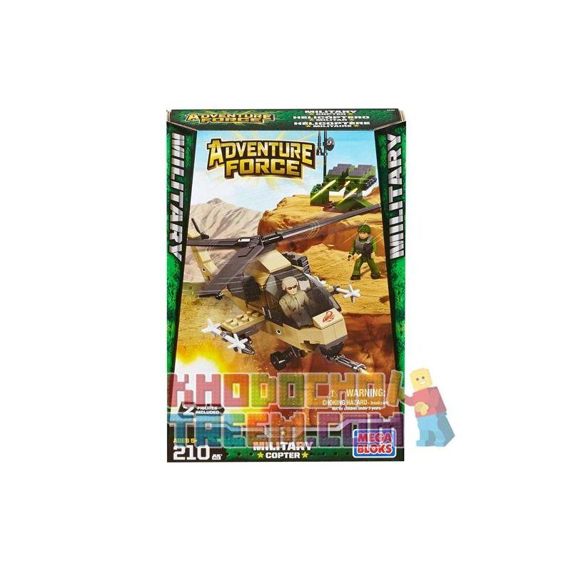 MEGA BLOKS 94425 Xếp hình kiểu Lego MILITARY ARMY Military Copter Military Helicopter Trực Thăng Quân Sự 210 khối
