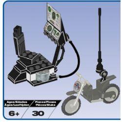 MEGA BLOKS 5616 Xếp hình kiểu Lego Attache Case-Pursuit Exploration Case Truy Tìm Vụ án Thám Tử 30 khối