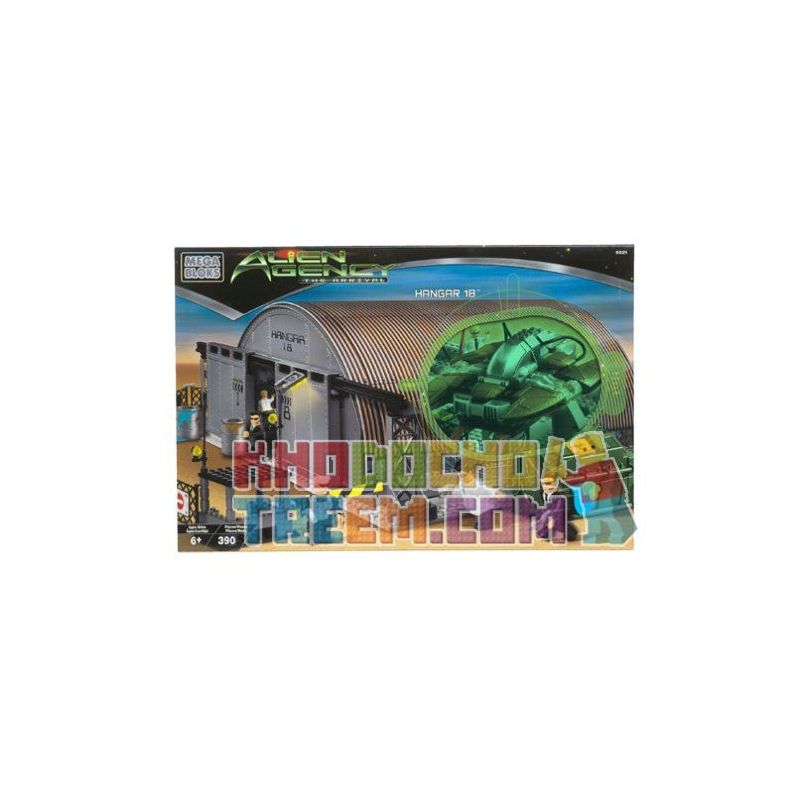 MEGA BLOKS 5621 Xếp hình kiểu Lego Hangar 18 18-machine Library Thư Viện 18-máy 390 khối