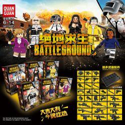 QUANGUAN QUAN GUAN 100011 Xếp hình kiểu Lego PUBG BATTLEGROUNDS Jedi Survival Chiến Trường Của Người Chơi Vô Danh