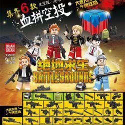 QUANGUAN QUAN GUAN 100014 Xếp hình kiểu Lego PUBG BATTLEGROUNDS Jedi Survival Chiến Trường Của Người Chơi Vô Danh