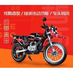 ZHEGAO QL0440 0440 Xếp hình kiểu Lego TECHNIC Cross Country Motorctcle Off-road Motorcycle Mô Tô địa Hình 481 khối