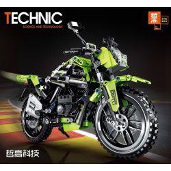 ZHEGAO QL0441 0441 Xếp hình kiểu Lego TECHNIC Competitive Motorctcle Athletic Motorcycle Đua Mô Tô 518 khối