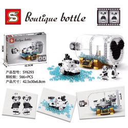 SHENG YUAN SY SY6293 6293 Xếp hình kiểu Lego DISNEY PRINCESS Boutique Bottle Bottle Of Boat Rice Mouse Motor Boat Willy Chuột Lái Xe Motor Willy 566 khối