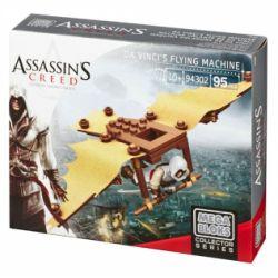 MEGA BLOKS 94302 DBJ09 Xếp hình kiểu Lego Da Vinci's Flying Machine Assassin's Creed Da Vinci's Aircraft Máy Bay Của Leonardo 95 khối