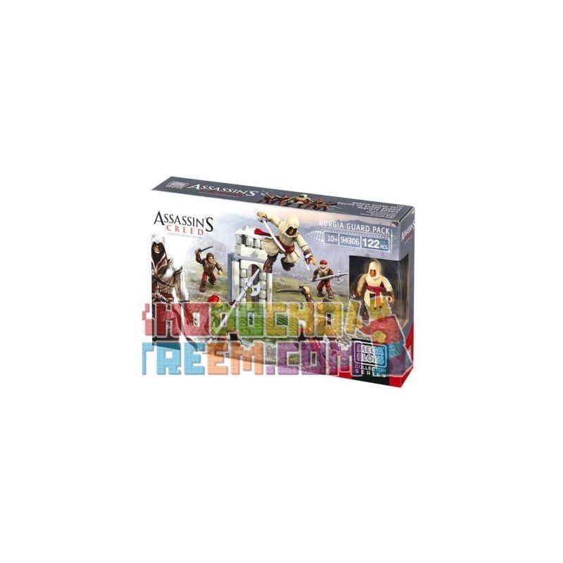 MEGA BLOKS 94306 CNF07 CNK23 Xếp hình kiểu Lego Borgia Guard Pack Assassin's Creed Boregia Guard Package Túi Bảo Vệ Borgia 122 khối