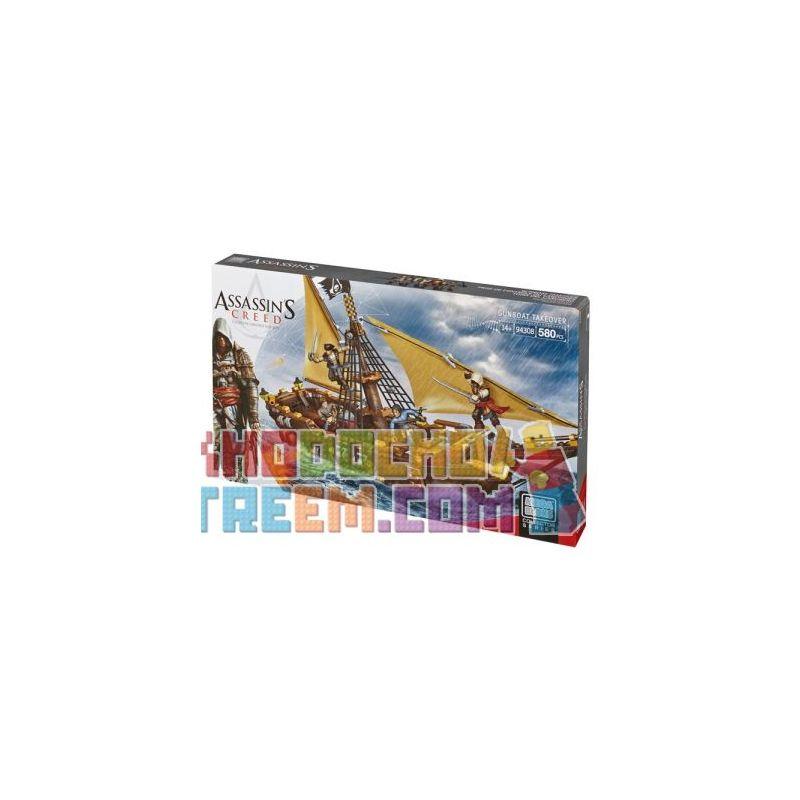 MEGA BLOKS 94308 DBJ05 Xếp hình kiểu Lego Gunboat Takeover Assassin's Creed Gunship Chụp Pháo Hạm 580 khối