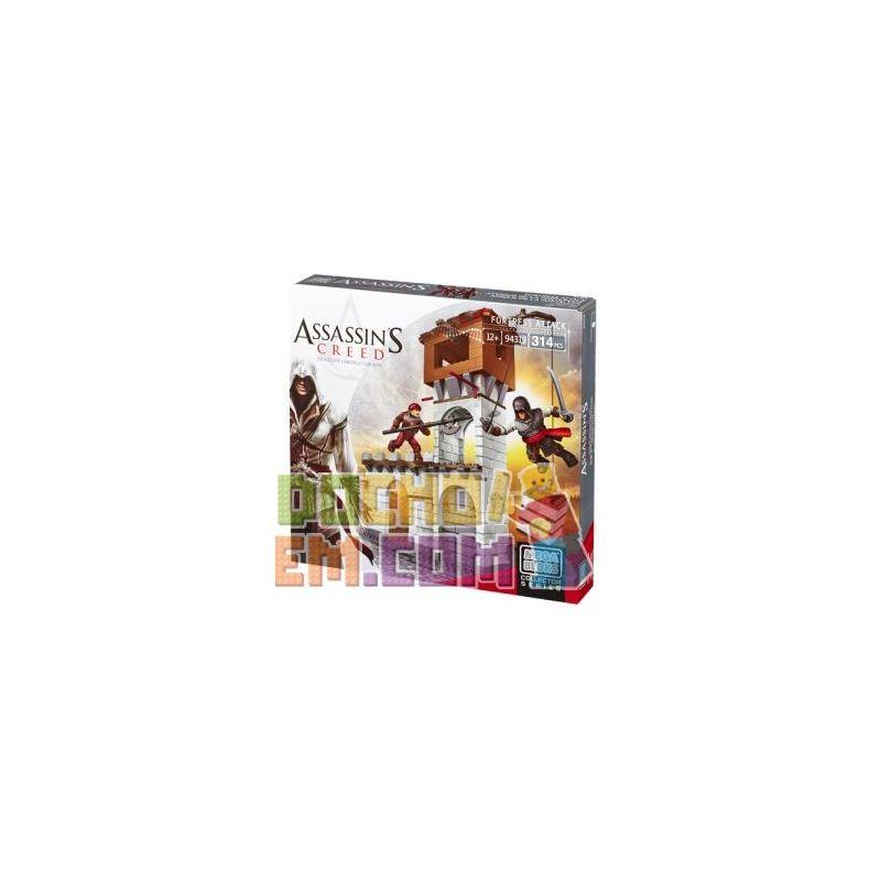 MEGA BLOKS 94319 DBJ04 Xếp hình kiểu Lego Fortress Attack Assassin's Creed To Plug Attack Tấn Công Pháo đài 314 khối
