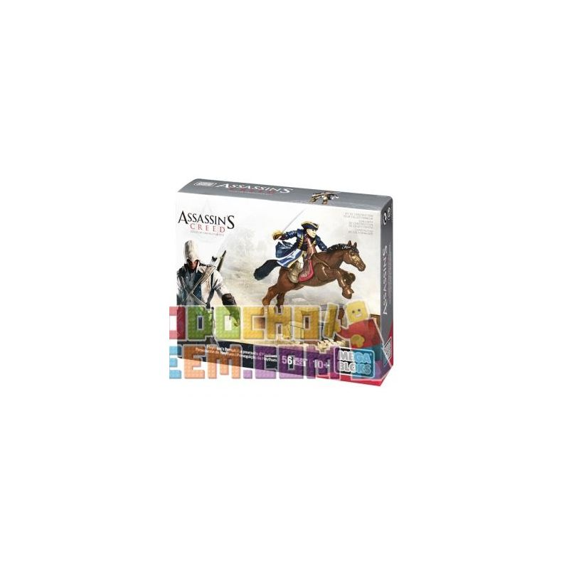 MEGA BLOKS CNG07 Xếp hình kiểu Lego Haytham's Pursuit Assassin's Creed Hai Sim's Pursuit Nhiệm Vụ Của Haytham 56 khối
