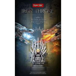 SUPER 18K K130 Xếp hình kiểu Lego GAME OF THRONES A Song Of Ice And Fire Iron Throne Throne Sắt 1146 khối