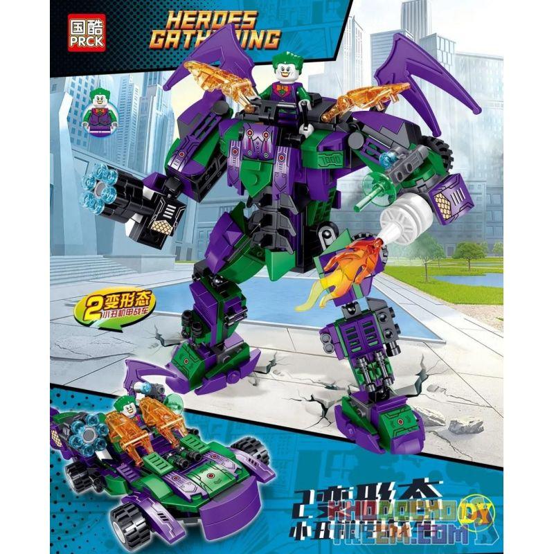 PRCK 64084 Xếp hình kiểu Lego SUPER HEROES Heroes Gathering Clown Machine Joker Mech Xe Ngựa 332 khối