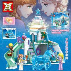 SX 3056 Xếp hình kiểu Lego Frozen Water Clear Royal Celebration Lễ Kỷ Niệm Hoàng Gia Elf Nước 496 khối