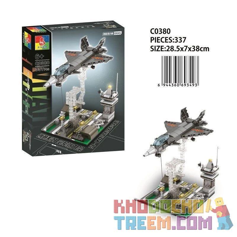 CHAOSHENG C0380 0380 WOMA C0380 0380 Xếp hình kiểu Lego MILITARY ARMY Air Force Tension 歼 -20 Invisible Fighter Máy Bay Chiến đấu Tàng Hình J-20 337 khối