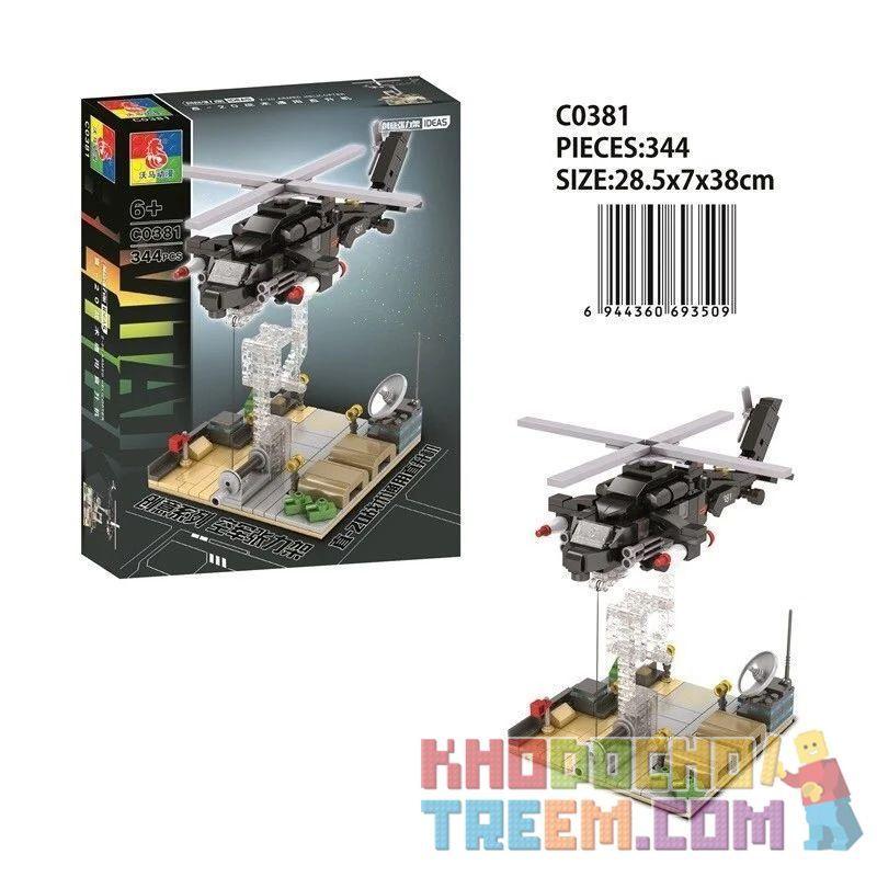 CHAOSHENG C0381 0381 WOMA C0381 0381 Xếp hình kiểu Lego MILITARY ARMY Air Force Tension Straight-20 Tactical Universal Helicopter Máy Bay Trực Thăng Tiện ích Chiến Thuật Zhi-20 344 khối