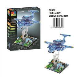 CHAOSHENG C0382 0382 WOMA C0382 0382 Xếp hình kiểu Lego MILITARY ARMY Air Force Tension Air Police-2000 Warning Machine Cảnh Sát Phòng Không-2000 AWACS 409 khối