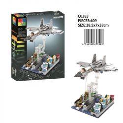 CHAOSHENG C0383 0383 WOMA C0383 0383 Xếp hình kiểu Lego MILITARY ARMY Air Force Tension 歼 -15 Fighter Máy Bay Chiến đấu J-15 409 khối