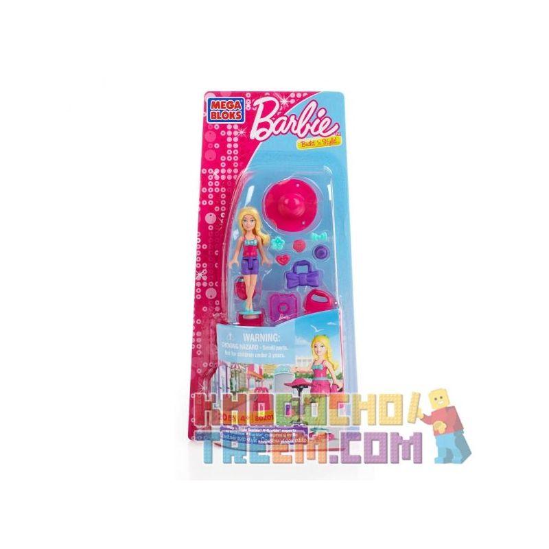 MEGA BLOKS 80201 Xếp hình kiểu Lego FRIENDS Shop 'n Style Barbie Fashion Shopping Barbie Mua Sắm Thời Trang Barbie 20 khối