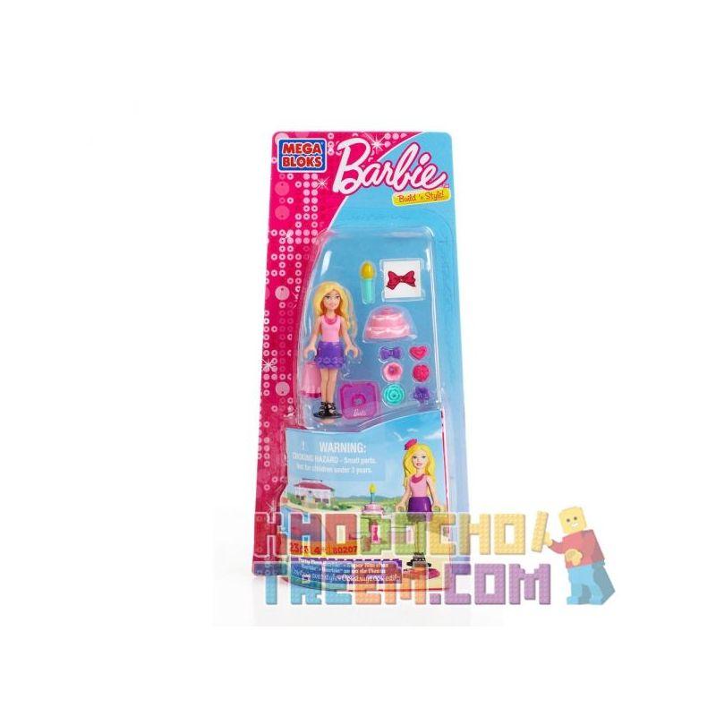 MEGA BLOKS 80207 Xếp hình kiểu Lego FRIENDS Party Time Barbie Party Time Barby Thời Gian Tiệc Tùng Barbie 23 khối
