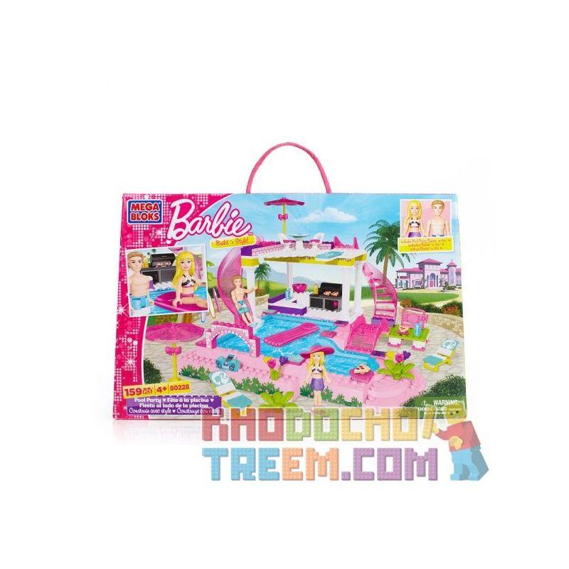 MEGA BLOKS 80228 Xếp hình kiểu Lego FRIENDS Swimming Pool Party Tiệc Bể Bơi 159 khối