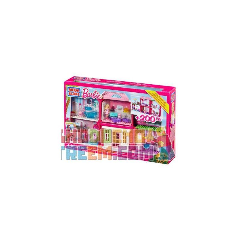 MEGA BLOKS 80149 Xếp hình kiểu Lego FRIENDS Build 'n Play Fab Mansion Wonderful Building Tòa Nhà Tuyệt Vời 222 khối
