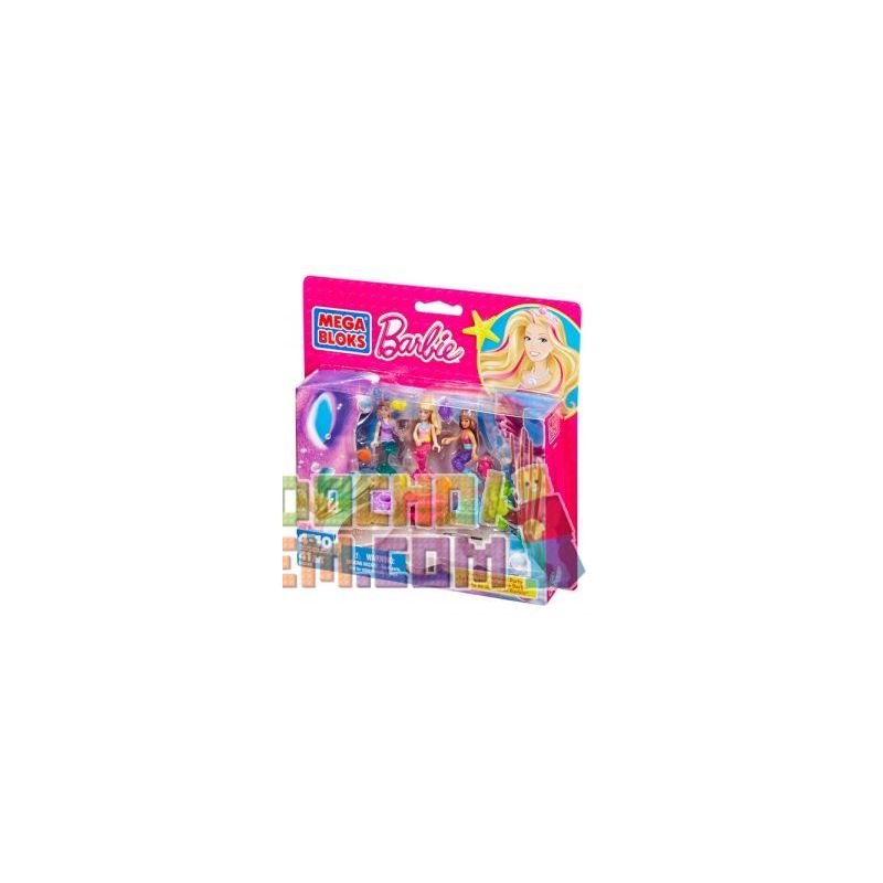 MEGA BLOKS 80240 CND99 Xếp hình kiểu Lego FRIENDS Build 'n Play Mermaid Party Tiệc Tiên Cá 41 khối