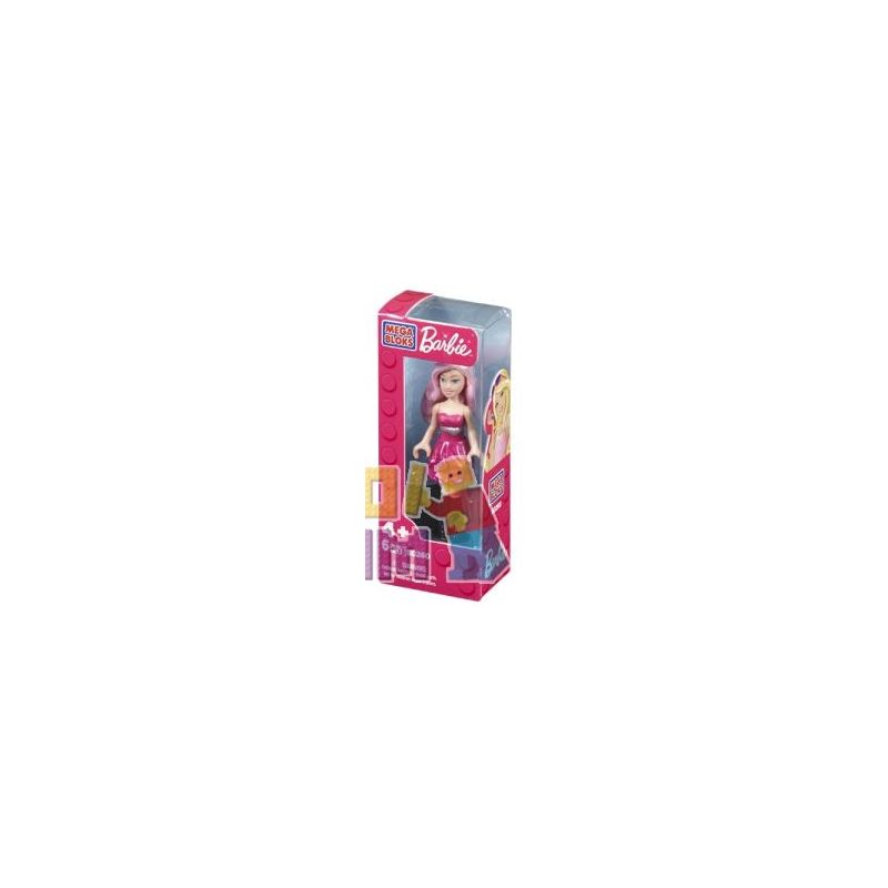 MEGA BLOKS 80262 Xếp hình kiểu Lego FRIENDS Pop Star Barbie® Popular Singer Barbie Ca Sĩ Nhạc Pop Barbie 6 khối
