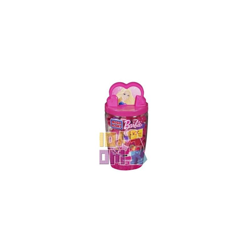 MEGA BLOKS 80275 Xếp hình kiểu Lego FRIENDS Pink Building Tube Pink Bucket Xô Xây Dựng Màu Hồng 66 khối