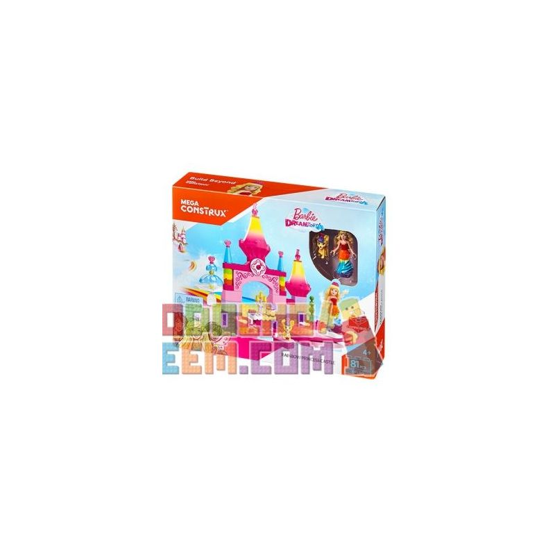 MEGA BLOKS DPL00 Xếp hình kiểu Lego FRIENDS Rainbow Princess Castle Lâu đài Công Chúa Cầu Vồng 81 khối