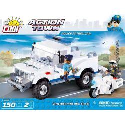 COBI 1576 1576 Xếp hình kiểu Lego CITY Police Patrol Car Xe Tuần Tra Cảnh Sát 150 khối