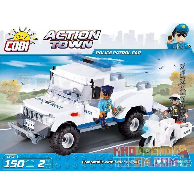 COBI 1576 Xếp hình kiểu Lego CITY Police Patrol Car Xe Tuần Tra Cảnh Sát 150 khối