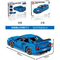 SHENG YUAN SY 8405 Xếp hình kiểu Lego TECHNIC TECHINQUE Tribute Nissan GTR34 Sports Car Nissan GTR34 Xe Thể Thao 833 khối