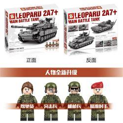 SHENG YUAN SY 0104 Xếp hình kiểu Lego MILITARY ARMY Survival Warfare Leopard 2A7+ Main Battle Tank Survival War Leopard 2A7 + Main Battle Tank Xe Tăng Chiến đấu Chủ Lực Leopard 2A7 + 898 khối